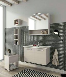 HARLEM H13, Mueble bajo lavabo suspendido con puertas