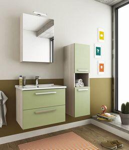 HARLEM H2, Mueble bajo lavabo suspendido con cajones
