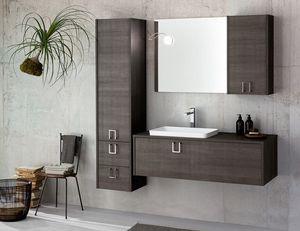 Kami comp.04, Mueble de baño modular en madera oscura