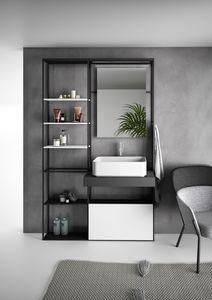 Lay 01, Mueble de baño con estanterías