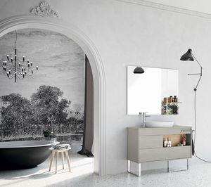 Lume comp.06, Composición para baño con muebles sin asa