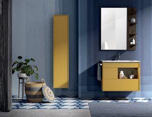 Lume comp.13, Mueble de baño con espejo y unidad de pared