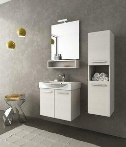 MANHATTAN M1, Mueble bajo lavabo simple con puertas
