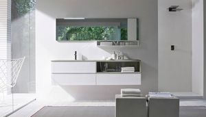 My seventy plus comp.07, Mueble de baño con tapa de cristal arenado