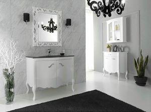 NARCISO 01, Mueble bajo lavabo lacado con puertas