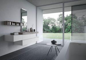 Nyù comp.13, Mueble de baño con lavabo laminado
