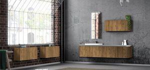 Plane ancient essences 02, Muebles de baño con esencias de madera antiguas