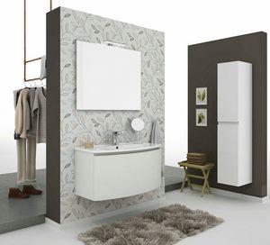 ROUND 01, Mueble bajo lavabo suspendido con cajones