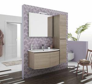 ROUND 04, Mueble bajo lavabo suspendido con puertas