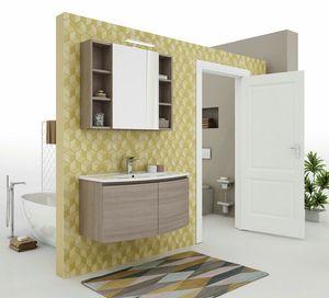 ROUND 06, Mueble bajo lavabo suspendido con puertas