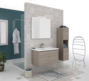 SOFT 01, Mueble bajo lavabo suspendido con puertas