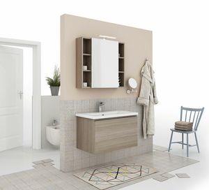 SOFT 04, Mueble bajo lavabo suspendido con cajones