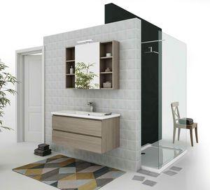 SOFT 06, Mueble bajo lavabo suspendido con cajones