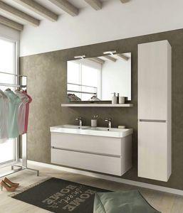 SOHO S15, Mueble bajo lavabo suspendido con cajones