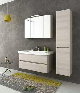 SOHO S8, Mueble bajo lavabo suspendido con cajones