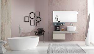 Summit 2.0 comp.01, Mueble de baño moderno con apertura extraíble