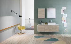 Summit 2.0 comp.05, Mueble de baño con unidad de pared con abertura extraíble