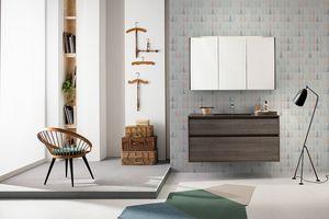 Summit 2.0 comp.12, Mueble de baño con lavabo integrado