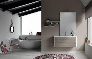 Dress 2.0 comp.03, Composición del baño con estantes y muebles suspendidos