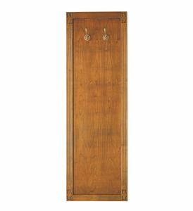 Villa Borghese Perchero de pared 9372, Colgador de ropa de madera para panel de entrada.
