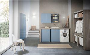 Lime Wash comp.01, Muebles modulares para lavadero