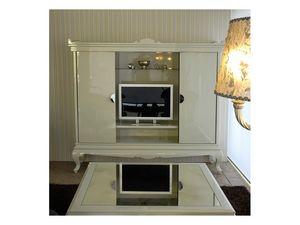 3520 Mueble de TV, Soporte de la TV en un estilo contemporáneo de las suites del hotel