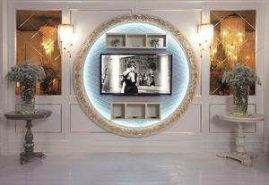 Art. 110, TV de soporte, montaje en la pared, estilo clásico de lujo