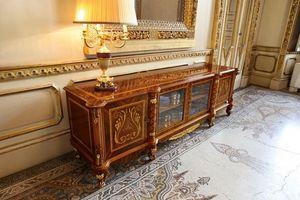 Art. 631/TV, Mueble de televisión, lujoso estilo clásico, con tallas e incrustaciones