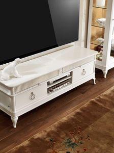 Art. CA113, Gabinete de la TV, con cajones, en madera tallada