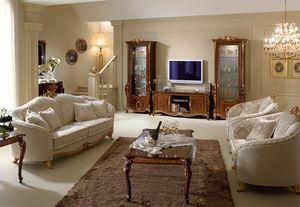Donatello soporte de la TV, Soporte de la TV en madera, calidad italiana, para el salón