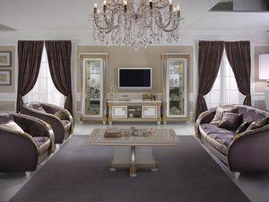 Liberty soporte de la TV, Mueble de televisión de madera, de estilo Liberty, para sala de estar clásica
