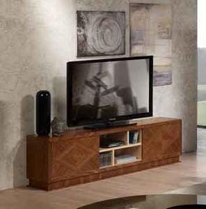 MB55 Desyo Mueble de TV, Mueble de televisión de madera con incrustaciones