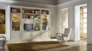 R 13, Mueble de televisión, lacado, clásico, hecho a mano