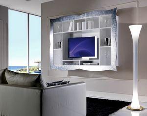 Allegra Living unidad de pared con marco, Soporte de TV colgante para sala de estar