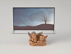 Angeli, Mueble TV con decoración de ángeles.