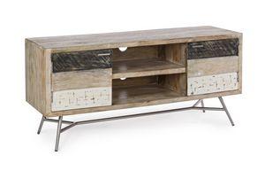 Aparador bajo 2A Leiston, Mueble TV bajo en madera