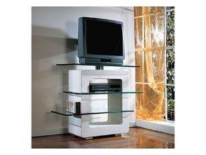 Aria TV Unit, TV de soporte hecha de piedra y vidrio, para el hogar