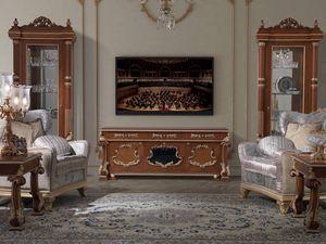 Art. 495, Mueble TV clásico de madera
