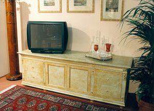 Art. 755, Mueble TV con lacado beige.