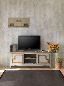 Art. AX104, Gabinete soporte de la TV en madera, estilo provenzal