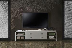 Art. VL143, Base de la TV de madera lacada, con cajones