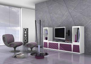Cube, Modular soporte tv mate laminado