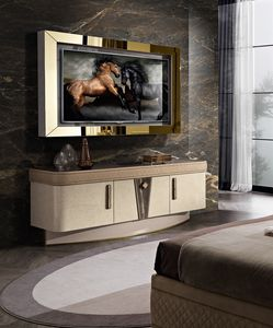 Diamond mobile porta tv, Mueble de TV con luz LED