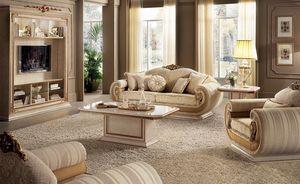 Gabinete Leonardo TV, Mueble de televisión de salón clásico en estilo clásico