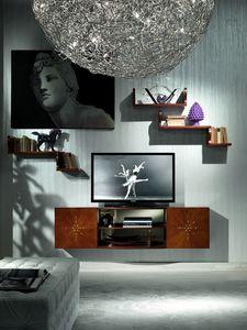 LB17 Nube estanteria, Soporte de la TV en el lujo clásico, para habitaciones de hotel