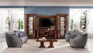 Modigliani TV set composición, Mueble de televisión de estilo clásico