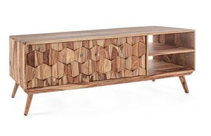 Mueble tv 2A Kant, Mueble de televisión de madera Sheesham