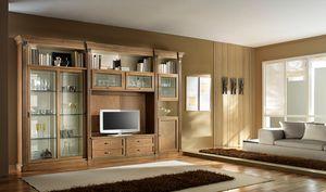 R 12, Mueble de televisión en cerezo, con puertas correderas
