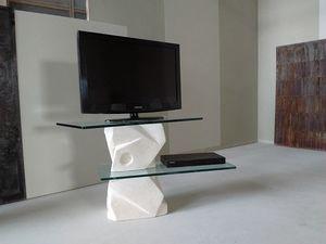 Samurai soporte de tv, Soporte de TV en piedra tallada