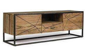 Soporte de TV 2A-1C Egon, Mueble TV en madera de acacia